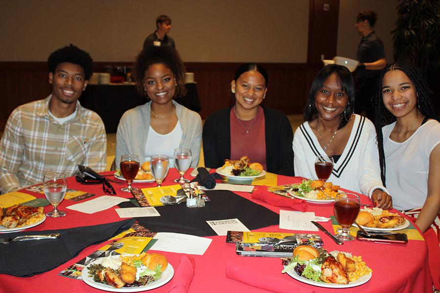 Students at luncheon