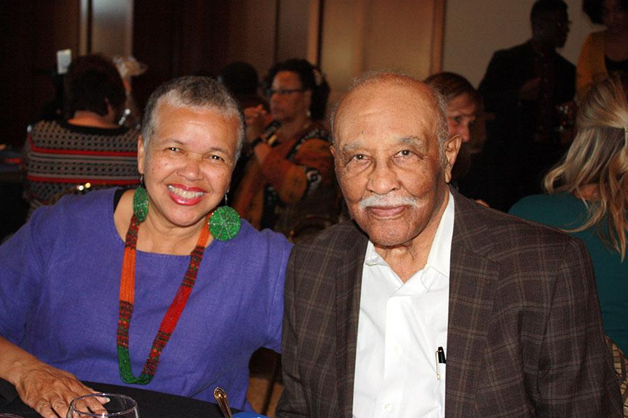 Former city councilman, county supervisor and transit agency president Leon Williams and wife